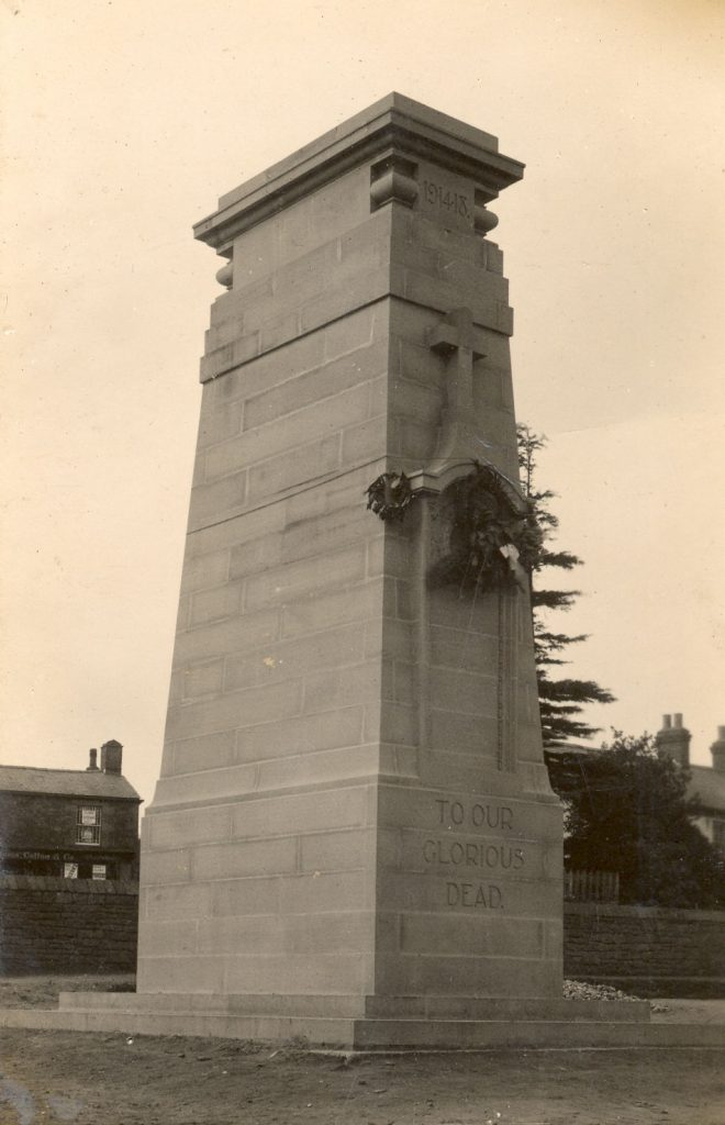 A photo of a newly built Bream Cenotaph