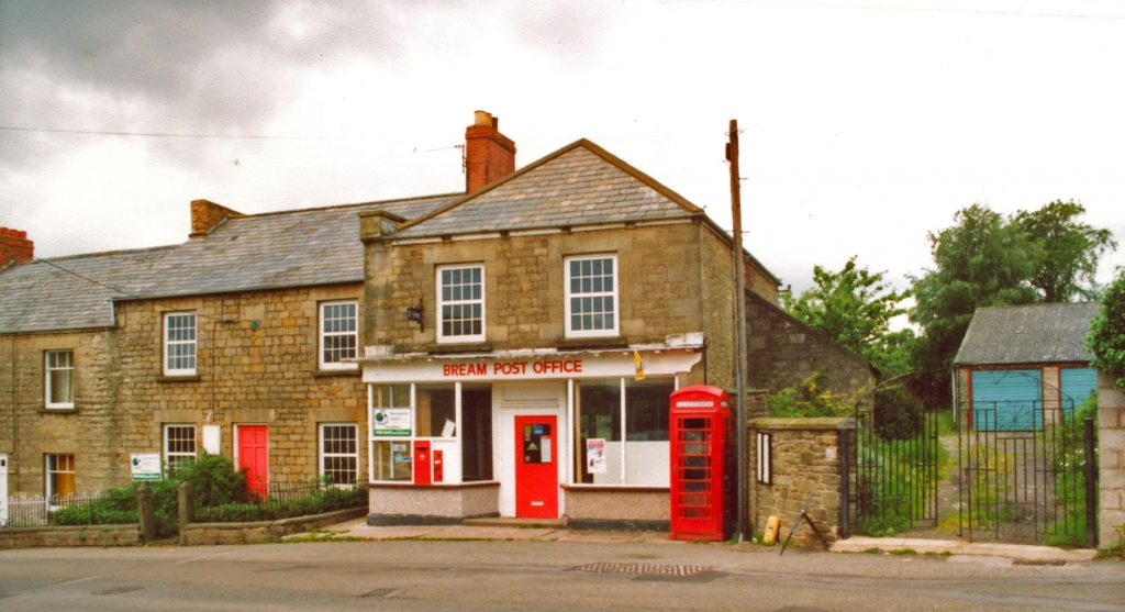 A photo showing Bream Post Office in 1991