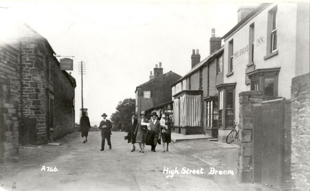 A photo showing Bream High Street at the Two Swans