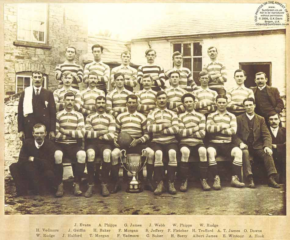 A photo of Whitecroft Rugby Footbal Club in 1914