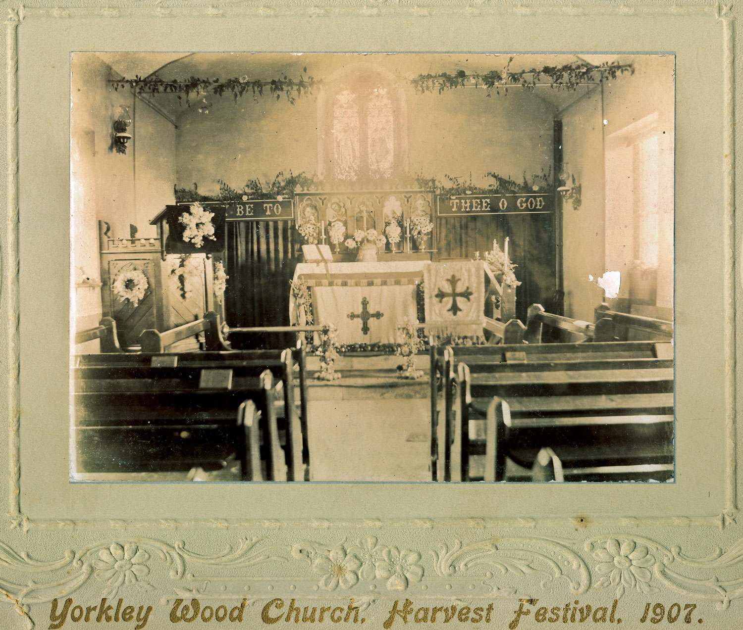 A photo showing Yorkley Wood Mission Church in 1907