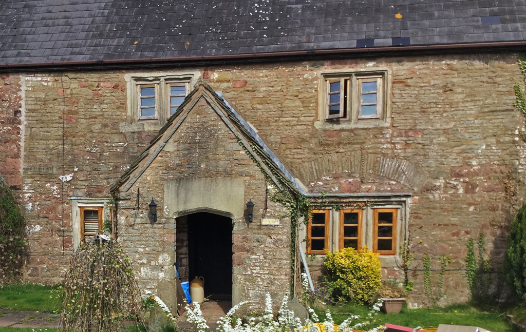 A photo of the farmhouse at Bream Court Farm
