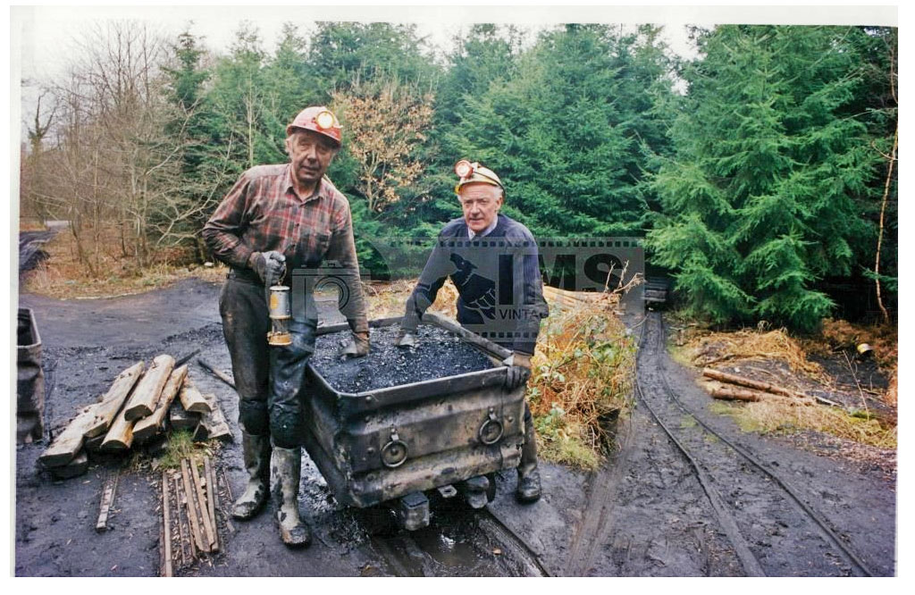 A photo of Donald Johns and Gilbert Kear, Freeminers of the Forest of Dean