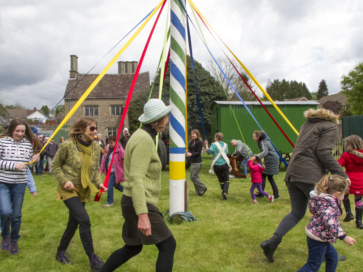 A photo showing dancers at The Maypole at the New Inn, Bream