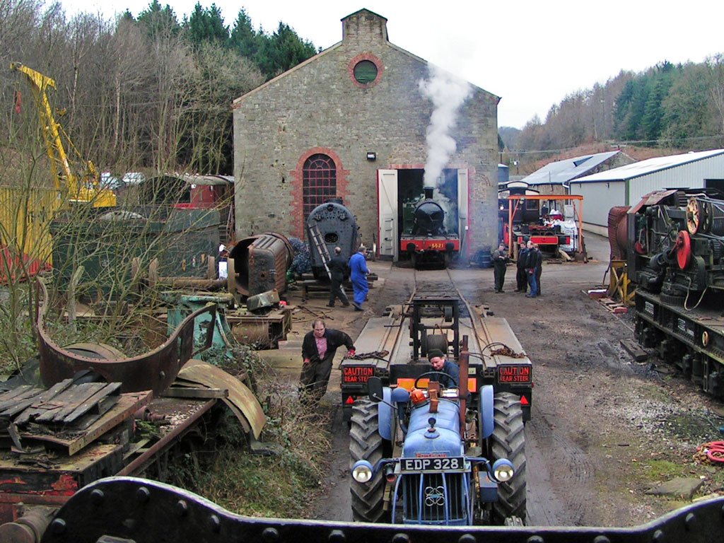 A photo of a loco at the Flourmill in 2007