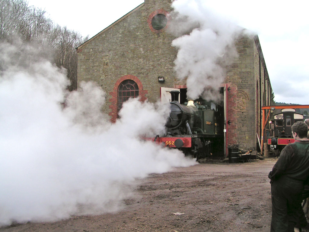 A restored steam loco at The Flourmill works in 2007