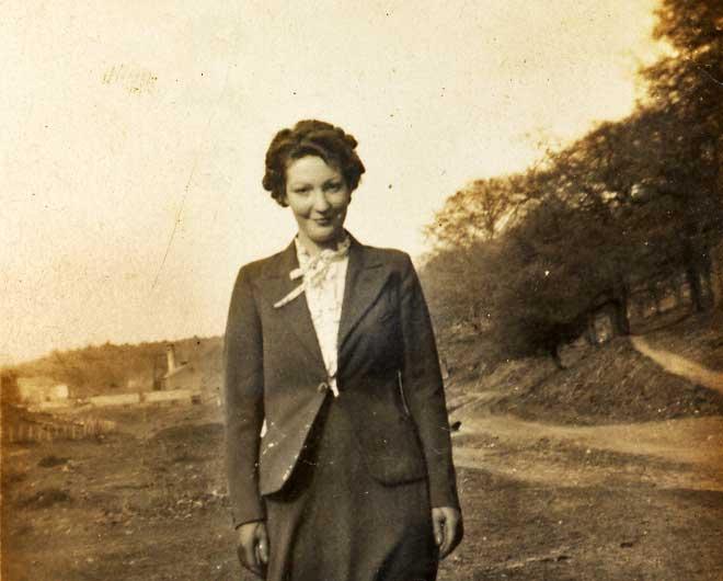 A photo of Mary Nelmes at Oakwood Bottom.