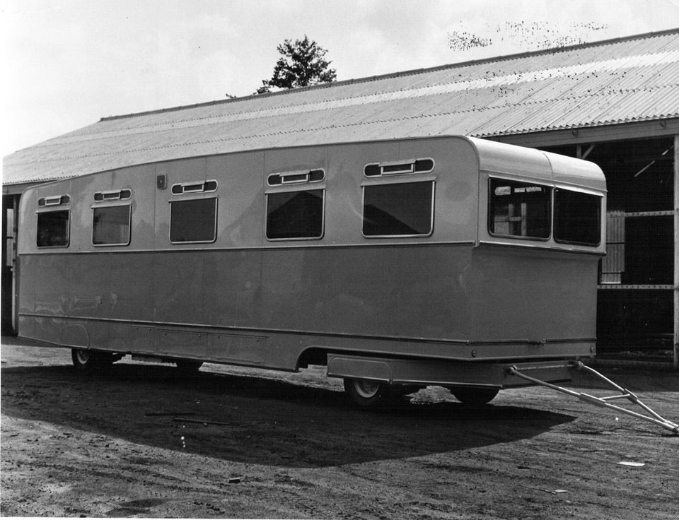 A photo of a Nash and Morgan travelling van