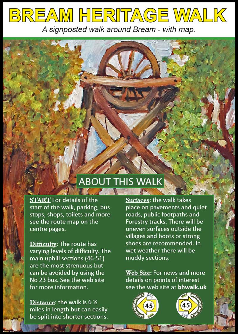An image showing the cover of the Bream Heritage Walk booklet