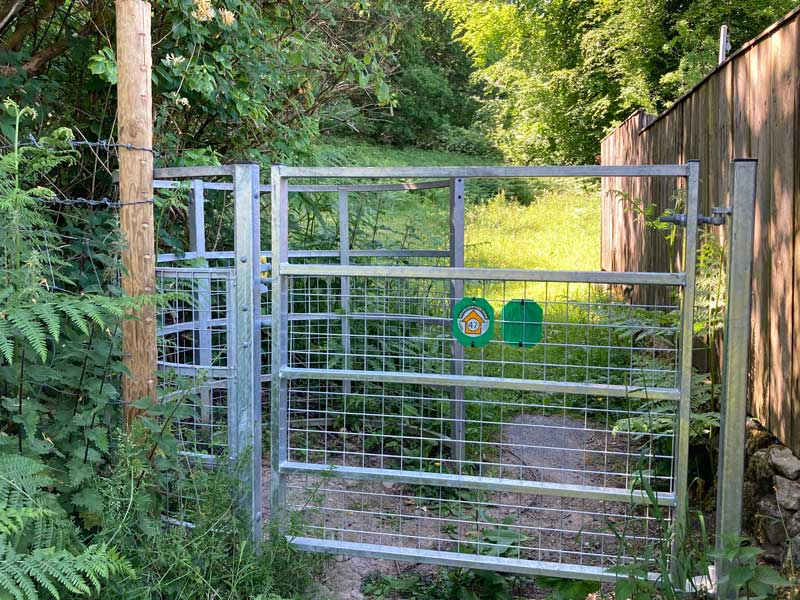 A photo of the new kissing gate at Brockhollands