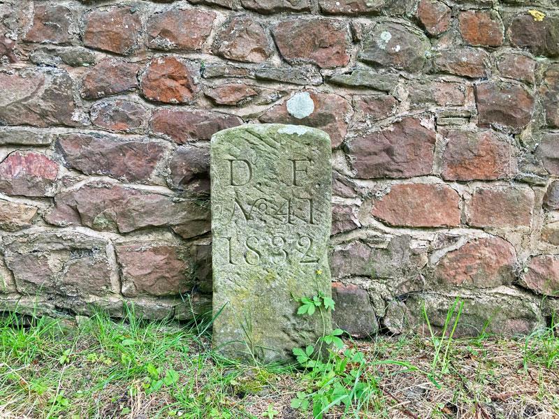 A photo of Boundary Stone No DF 41 1832